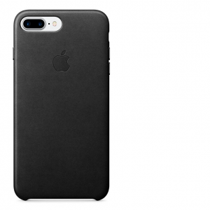 Чехол Apple Leather Case для iPhone 7 Plus (Black) MMYJ2