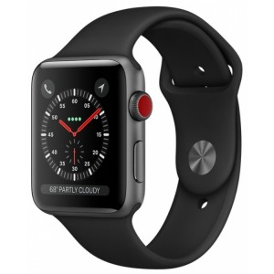 Apple Watch Series 3 Cellular 42mm Aluminum Case with Sport Band Black
